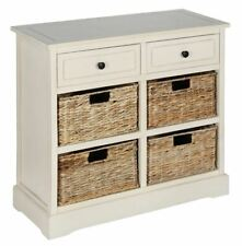 Modern Cream Wood 2 Drawer With 4 Basket Storage Suitable For Kitchen Storage