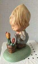 Vtg 1972 Goebel Betsey Clark Girl With Flowers Hallmark Figurine