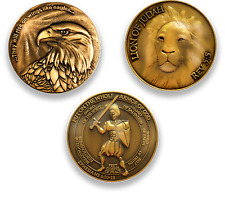 Antique Gold Plated Christian Challenge Coin - Value Variety Pack of 3