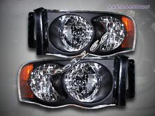 02-05 Dodge Ram 1500 2500 3500 Headlights Black 03 04