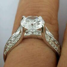 3 carat 14k white Gold Round man made diamond Engagement Wedding Ring s 6.5