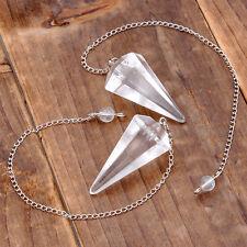 Hexagonal Spitze Natur Bergkristall Quarz Edelstein Anhänger f. Halskette DIY