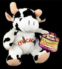 "Souvies Super Soft Souvenirs Chicago Cow 7"" Plush Beanie Farm Animal Gift BT1"
