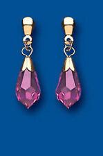 Pendientes de joyería mariposa de oro rosa