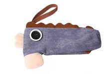 Denim Blue Pencil Case Funky Platypus Shape Small Zipper School Accessory (S614)