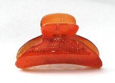 Belle Le Paris French Hair Claw 3 Inch Large Orange Tortoise Clamps Clip C11