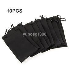 10PCS Soft Cloth Microfiber Pouch Bag Case For Sunglasses Glasses MP3 Player New