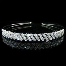 Wedding Bridal Bridesmaid Flower Girls Crystal Pearl Tiara Headband Headpiece