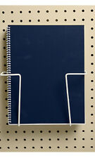 Expandable Literature Display for Pegboard in Almond 6 1/2 H x 2 D Inch-Lot of 5