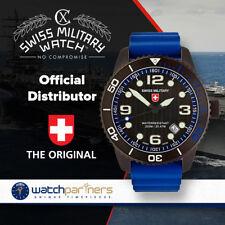 CX Swiss Military MARLIN SCUBA NERO Swiss watch 20ATM Sapphire Blk/Blu dial 2707
