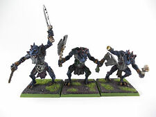 3 x Caos Troll-Troll caos dei Guerrieri del Caos-BEN DIPINTO METALLO -