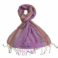 Pink Women Scarf - Striped Pashmin Gorgeous Sparkly Scarves for Girls - Scarf