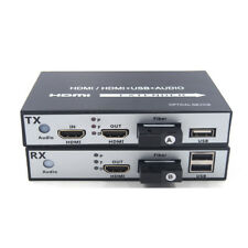 HDMI Extender -HD 1080p HDMI over Fiber Optic media converters with KVM,Up 20Km