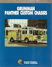 Fire Equipment Brochure - Grumman - Panther Custom Chassis - Pumper Truck (DB35)