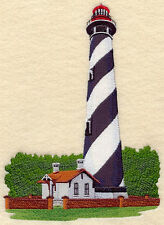 St. Augustine Lighthouse EMBROIDERED SET OF 2 BATHROOM TOWELS BY LAURA