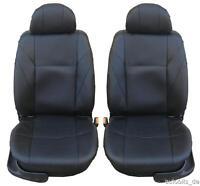 2 PKW Sitzbezüge Schonbezüge Kunstleder Schwarz für Citroen Dacia Fiat Ford