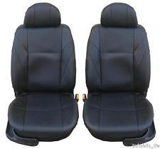2 Auto Sitzbezüge Schonbezüge Schonbezug Leder Schwarz für Alfa Romeo Audi BMW