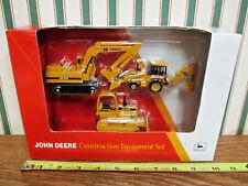 John Deere Excavator, Backhoe, Dozer Construction Set By Ertl 1/64th Scale