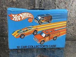 VTG 1975 Mattel Hot Wheels # 4975 12 Car Collectors Case Complete EX Redline USA