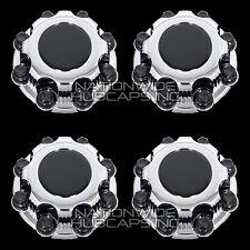 4 CHEVY GMC 8 Lug CHROME Wheel Center Hub Caps Bolt Covers fit Alloy & Steel Rim