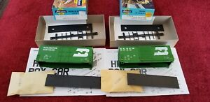 LOT OF 2  Athearn 1968 1957 BN Burlington 40' SS OB Hi Cube BoxCar Kits HO NEW