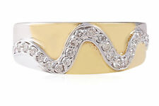 Pave 0.28 Cts Round Brilliant Cut Natural Diamonds Band Ring In Solid 18K Gold