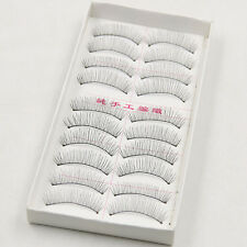 10Pair Natural Thick Cross Black False Eyelashes Party Eye Lashes makeup Eyelash