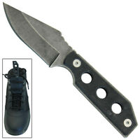 Smoke Screen Tactical Military Fix Blade Outdoor Camp Boot Knife