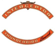FORD 1958-1959 Thunderbird Special V8 Interceptor Engine Air Cleaner Decal Set