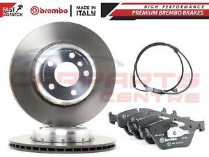 FOR BMW 5 SERIES F10 518D 520D BREMBO FRONT BRAKE DISCS PADS WEAR SENSOR 330mm