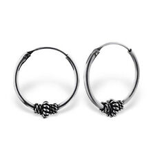 Childrens ladies 925 Sterling Silver Bali hoop Earrings 16mm gift