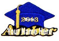 Graduation Hat Custom Iron-on Patch Personalized Free