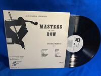 Jascha Heifetz LP Masters of the Bow Vol 1 Discopaedia MB 1010 Rare VG++