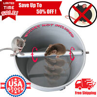US Log Roll Into Bucket Mice Trap Rolling Mouse Rats Stick Trap Rodent Spinning