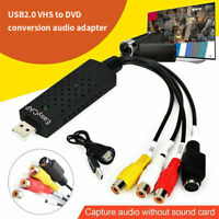 Easycap USB 2.0 Audio TV Video VHS to DVD PC HDD Converter Capture Card Adapter