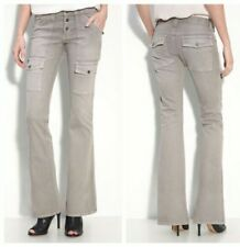New $208 Joie T46-1030 So-Real Wicker Tan Flare Boot Cargo Jeans Pants Sz 24