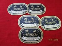 5 Zigarrenkisten Etiketten - Selecta, Papier Reklame, wohl 1920er/30er J.  /S54