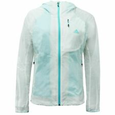 Adidas Womens Transparent Jacket Lined Windbreaker White S09561 A4E