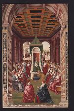 c1910 Sborgi art Piccolomini & Eugenio IV Italy by artist Pinturicchio postcard