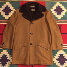 Vintage Sir Pendleton Brown Wool Dress Coat Sherpa Lined Size L!!!