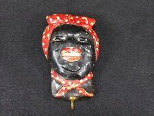 Vintage Black Americana Chalkwar Wall Head, Hook Holder