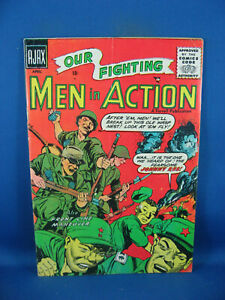 MEN IN ACTION 1 VG F RACIST COMMUNIST COVER FIRST ISSUE 1957
