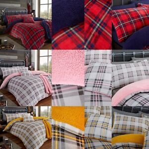 Teddy Check Fleece Sherpa NEW Duvet Cover Quilt Cover or Throw Or Cushion Cover