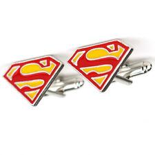 New Superman Supergirl Super Hero Movie TV Logo Symbol Cufflinks Suit Gift Bag