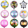 Happy Birthday Aluminum Foil Party Decoration Round Foil Balloon Air Balloons