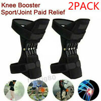 1Pair Joint Support Brace Knee Pads Booster Lift Squat Sport Power Spring Force