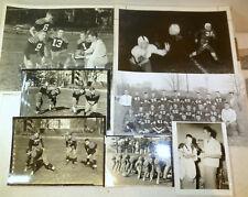 1950s boys football original photos lot (7); Mount Morris, Illinois, teens