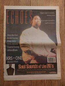 ECHOES MAGAZINE 7 OCTOBER 1995 KRS-ONE BUJU BANTON ROSIE GAINES OLETA ADAMS