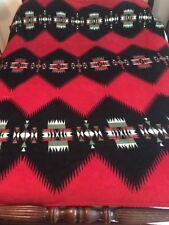 Ralph Lauren Native American Plush Blanket Bright Colors Great Throw So Soft
