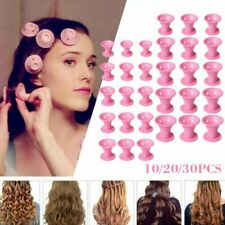 10/30pcs Soft Rubber Hair Care Rollers Silicone Hair Curling Styling DIY Tool